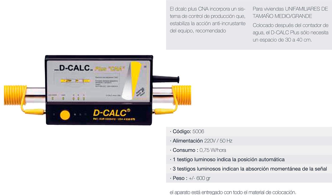 """D-CALC Plus """"CNA"""" - Desincrustador calcáreo doméstico"""