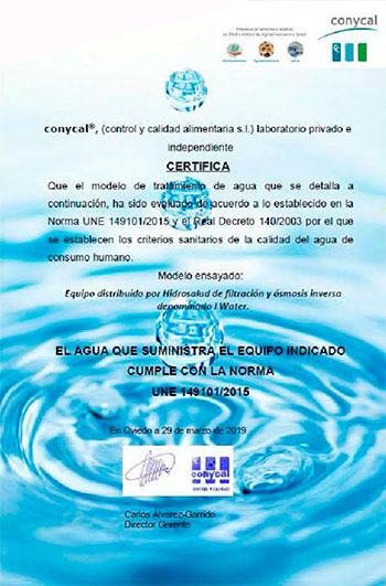 Certificado de Calidad con la normativa UNE 149101/2015